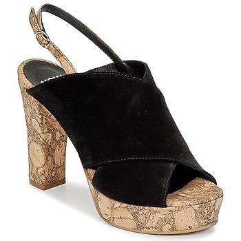 Čevlji  Ženske Cokli Now PAPIRON Črna