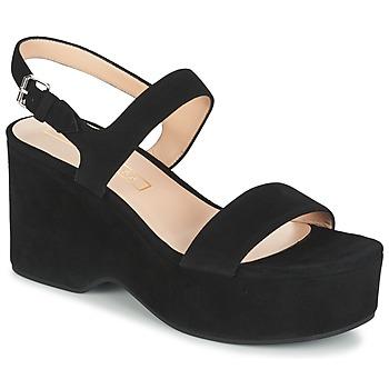 Čevlji  Ženske Sandali & Odprti čevlji Marc Jacobs LILLYS WEDGE Črna