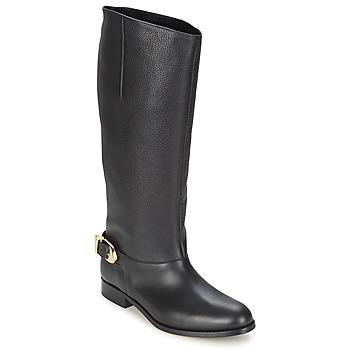 Čevlji  Ženske Mestni škornji    Moschino Cheap & CHIC BUCKLE Črna