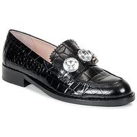 Čevlji  Ženske Mokasini Moschino Cheap & CHIC STONES Črna