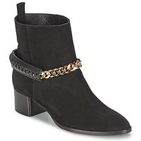 Čevlji  Ženske Gležnjarji Roberto Cavalli YPS542-PC519-05051 Črna