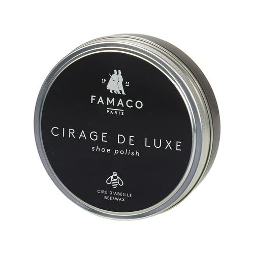 Dodatki  Nega obutve Famaco BOITE DE CIRAGE DE LUXE MARRON FONCE 100 ML Kostanjeva