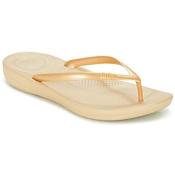 Čevlji  Ženske Japonke FitFlop IQUSHION ERGONOMIC FLIP-FLOPS Pozlačena