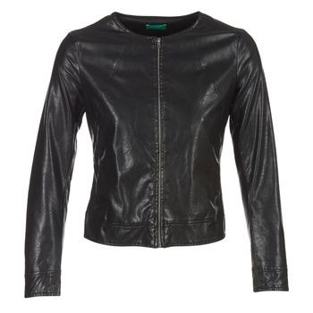 Oblačila Ženske Usnjene jakne & Sintetične jakne Benetton JANOURA Črna