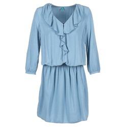 Oblačila Ženske Kratke obleke Benetton AFIDOUL Modra