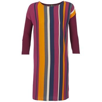 Oblačila Ženske Kratke obleke Benetton VAGODA Bordo / Večbarvna