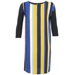 Oblačila Ženske Kratke obleke Benetton VAGODA Modra / Rumena / Bela