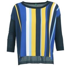 Oblačila Ženske Puloverji Benetton OVEZAK Modra / Rumena / Bela
