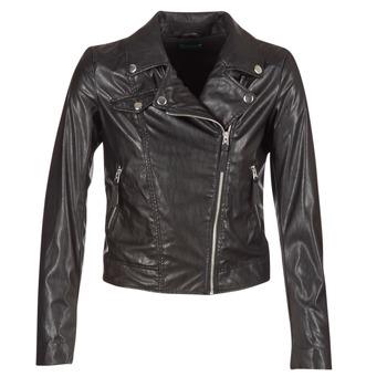 Oblačila Ženske Usnjene jakne & Sintetične jakne Benetton FAJOLI Črna