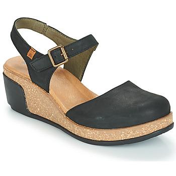 Čevlji  Ženske Sandali & Odprti čevlji El Naturalista LEAVES Črna