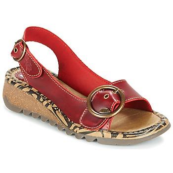 Čevlji  Ženske Sandali & Odprti čevlji Fly London TRAMFLY Rdeča