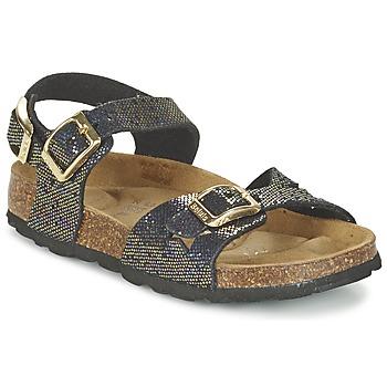 Čevlji  Deklice Sandali & Odprti čevlji Betula Original Betula Fussbett JEAN Črna / Pozlačena