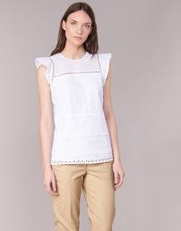 Oblačila Ženske Topi & Bluze MICHAEL Michael Kors COMBO EYELET S/S Bela