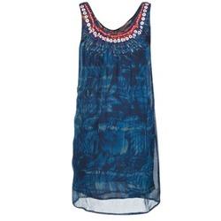 Oblačila Ženske Kratke obleke Desigual LIORISE Modra