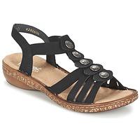 Čevlji  Ženske Sandali & Odprti čevlji Rieker MECHAROLO Črna