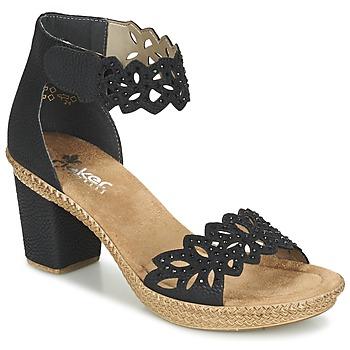 Čevlji  Ženske Sandali & Odprti čevlji Rieker POTIRASSE Črna