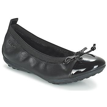 Čevlji  Deklice Balerinke Geox J PIUMA BAL F Črna