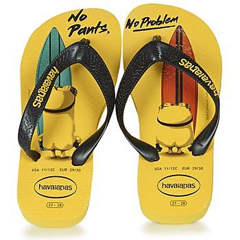 Čevlji  Otroci Japonke Havaianas KIDS MINIONS Rumena / Črna