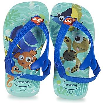 Čevlji  Otroci Japonke Havaianas BABY DISNEY CUTIES Modra / Lesklý