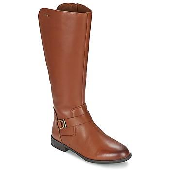 Čevlji  Ženske Mestni škornji    Clarks MINT TREAT GTX Kostanjeva