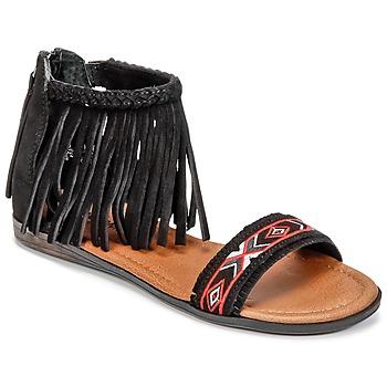 Čevlji  Ženske Sandali & Odprti čevlji Minnetonka MOROCCO Črna