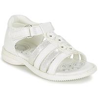 Čevlji  Deklice Sandali & Odprti čevlji Chicco CAROTA Bela / Srebrna