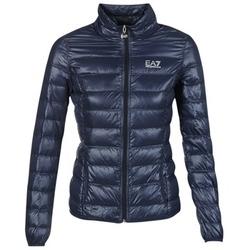 Oblačila Ženske Puhovke Emporio Armani EA7 TRAIN CORE Modra