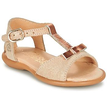 Čevlji  Deklice Sandali & Odprti čevlji Citrouille et Compagnie GUGULE Pozlačena