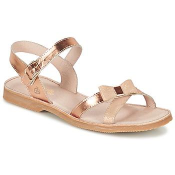 Čevlji  Deklice Sandali & Odprti čevlji Citrouille et Compagnie JISCOTTE Bronze