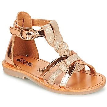 Čevlji  Deklice Sandali & Odprti čevlji Citrouille et Compagnie GITANOLO Bež / Medena