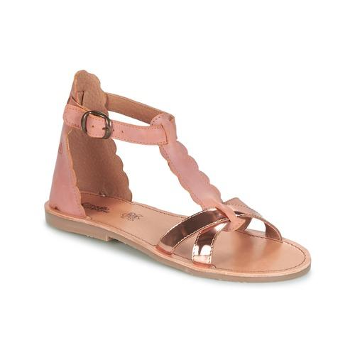 Čevlji  Deklice Sandali & Odprti čevlji Citrouille et Compagnie GUBUDU Rožnata / Pozlačena