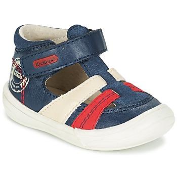 Čevlji  Dečki Sandali & Odprti čevlji Kickers ZOHAN Rdeča