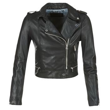 Oblačila Ženske Usnjene jakne & Sintetične jakne Oakwood YOKO Črna