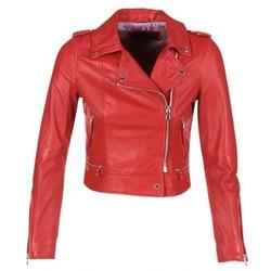 Oblačila Ženske Usnjene jakne & Sintetične jakne Oakwood YOKO Rdeča