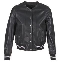 Oblačila Ženske Usnjene jakne & Sintetične jakne Oakwood 62298 Črna