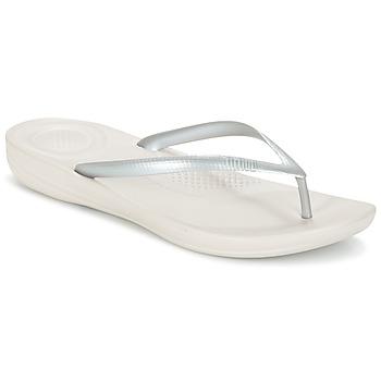 Čevlji  Ženske Japonke FitFlop IQUSHION ERGONOMIC FLIP-FLOPS Bleščeča / Silver