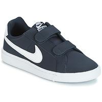 Čevlji  Otroci Nizke superge Nike COURT ROYALE PRESCHOOL Modra / Bela
