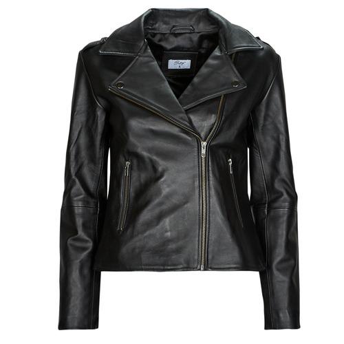 Oblačila Ženske Usnjene jakne & Sintetične jakne Betty London IGADITE Črna
