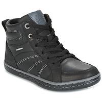 Čevlji  Dečki Visoke superge Geox J GARCIA B. B Črna / Siva