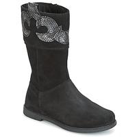 Čevlji  Deklice Mestni škornji    Geox J SHAWNTEL G. C Črna