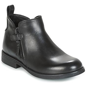 Čevlji  Deklice Polškornji Geox J AGATA C Črna