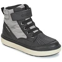 Čevlji  Dečki Visoke superge Geox J MATT.B ABX B Siva / Črna