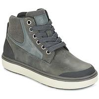 Čevlji  Dečki Visoke superge Geox J MATT.B ABX C Siva
