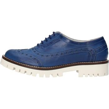 Čevlji  Ženske Čevlji Derby & Čevlji Richelieu Olga Rubini classiche blu pelle AF117 Blu