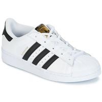Čevlji  Otroci Nizke superge adidas Originals SUPERSTAR Bela / Črna