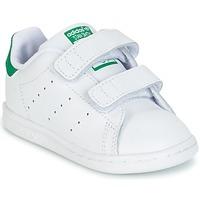 Čevlji  Dečki Nizke superge adidas Originals STAN SMITH CF I Bela / Zelena
