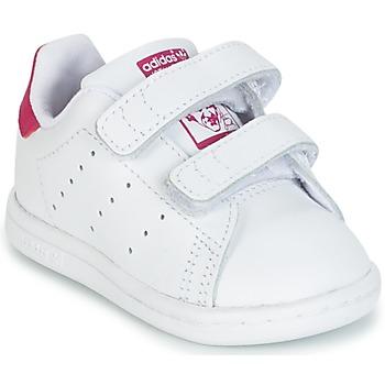 Čevlji  Deklice Nizke superge adidas Originals STAN SMITH CF I Bela / Rožnata