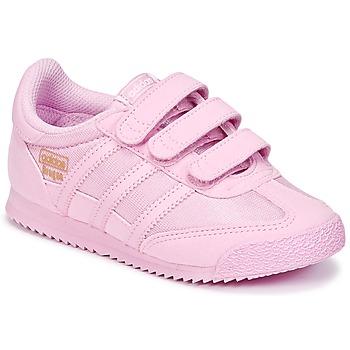 Čevlji  Deklice Nizke superge adidas Originals DRAGON OG CF I Rožnata