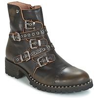 Čevlji  Ženske Polškornji Dkode UMBRIA-BLACK-001 Črna