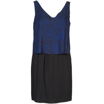 Oblačila Ženske Kratke obleke Naf Naf LORRICE Črna / Modra